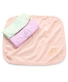 Simply Hand And Face Napkins Pack of 3 - Light Green Pink Peach
