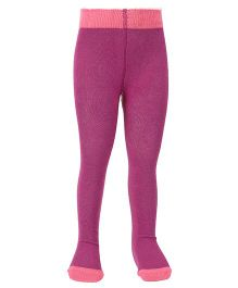 Mustang Footed Tights Stockings - Purple & Pink