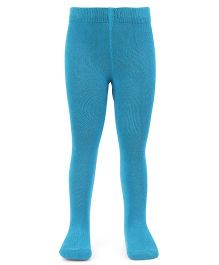 Mustang Footed Tights Stockings - Teal Blue