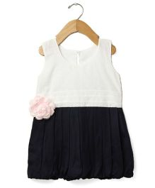 Tia'S Closet Flouncy Bouncy Dress - Navy Blue