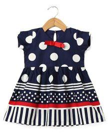 Tia'S Closet Polka Dot Dress - Blue