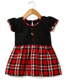 Tia'S Closet Checked Dress - Black