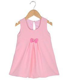 Tia'S Closet Polka Dotted Bow Dress - Pink