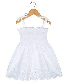 Tia'S Closet Smock Dress - White