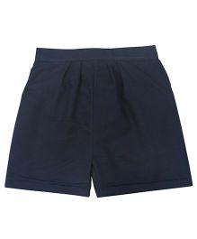 Tia'S Closet Trendy Shorts With Minimal Thread Work - Navy Blue
