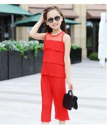 Cherubbabby Layered Top & Pants - Red