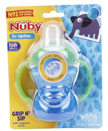 Nuby 1st Sipeez No Spill Grip N Sip Sipper Blue & Green - 240 ml