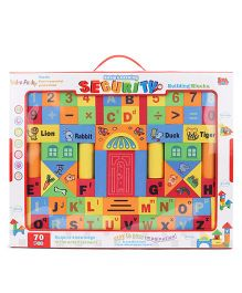 Security Building Alpha-Numeric Blocks Game - 70 Pieces