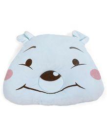 Bear Shaped Baby Pillow - Aqua Blue