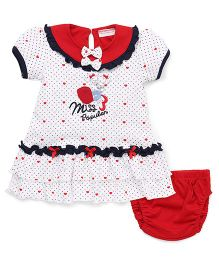 Wonderchild Dress With Bloomer - White