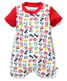 Wonderchild Vehicle Printed Romper - Multicolour