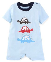 Wonderchild Turtle Print Romper - Sky Blue