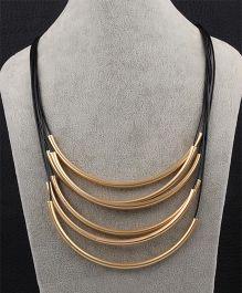 Funkrafts Layer Necklace - Black & Golden