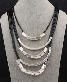 Funkrafts Layered Necklace - Black & Silver