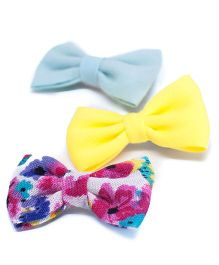 Pigtails and Ponys Summer Days Bow Clips Set Of 3 - Multicolor