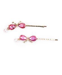 Treasure Trove Stone Studded Hair Pin - Pink