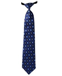 Needybee Printed Pre Knotted Tie With Buckle Closure - Blue