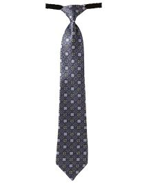 Needybee Printed Pre Knotted Tie With Buckle Closure - Grey