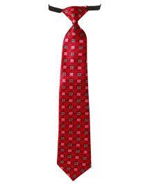 Needybee Printed Pre Knotted Tie With Buckle Closure - Pink