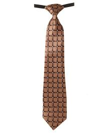 Needybee Printed Prestitched Tie With Buckle Closure - Brown
