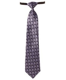 Needybee Printed Prestitched Tie With Buckle Closure - Grey