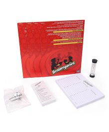 Hasbro Scattergories Board Game  - Red