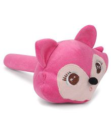 Musical Hammer Soft Toy Monkey Face Pink - Length 23 cm