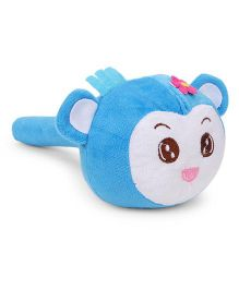 Musical Monkey Face Soft Toy Hammer Blue White - 24 cm