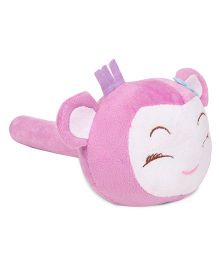 Musical Hammer Soft Toy Animal Face Purple - 24 cm