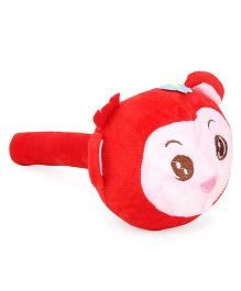 Musical Hammer Soft Toy Monkey Face Red - 24 cm
