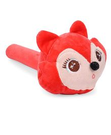 Musical Hammer Soft Toy Monkey Face Red - Length 23 cm