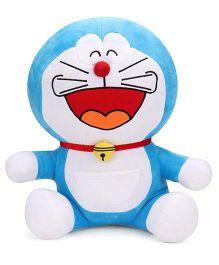 Doremon Laughing Soft Toy Blue - 43 cm