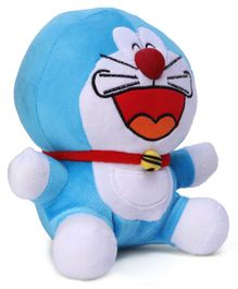 Doraemon Smiling Plush Soft Toy Blue - Height 20 cm