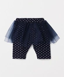 Babyhug Skeggings All Over Dots Print - Navy Print