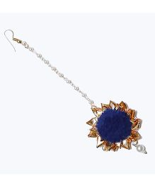 D'chica Traditional Chic Maang Tikka Jewellery - Blue