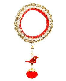 D'chica Ethnic Latkan Bangle Jewellery - Red