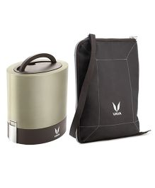 Vaya Insulated Lunch Box With Bag Graphite Design - Brown