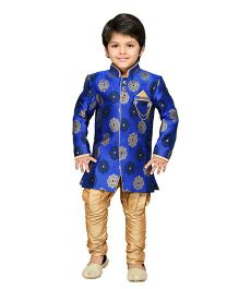 AJ Dezines Kurta And Breeches Set - Royal Blue