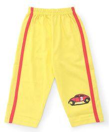 Tango Track Pant Car Print - Yellow
