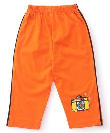 Tango Track Pant Camera Print - Orange