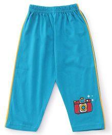 Tango Track Pant Camera Print - Aqua Blue