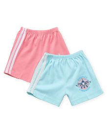Tango Casual Shorts Printed Pack Of 2 - Pink Blue