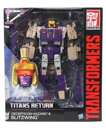 Transformers Generations Titans Return Decepticon Hazard & Blitzwing Figure Purple - 17 cm