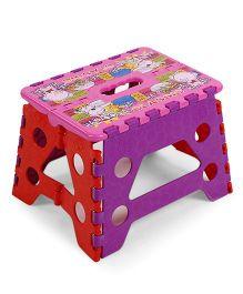 Folding Baby Stool - Pink & Purple