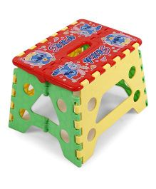 Folding Baby Stool - Red Yellow Green