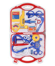 Playmate Doctor Set With Light And Sound - Red