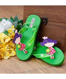 D'Chica Little Doll Flip Flops - Green