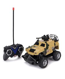 Remote Control Military Toy Car - Yellow