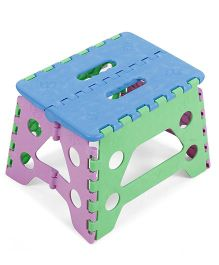Folding Stool - Blue Green Pink