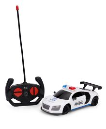 Remote Controller Super Power Police Car - White